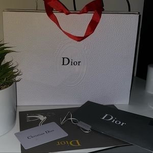 Dior box , with cards
